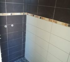 Faience douche étage