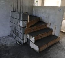 Début création escalier