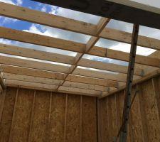 Garage Sud solivage toiture en cours