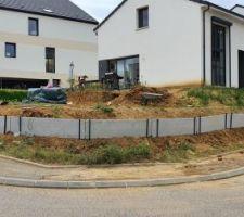 Mur de retenu de terre