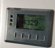 Les panneaux produisent 4300 watts actuellement