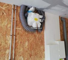 Installation complète de la VMC au niveau du garage