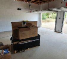 Le garage avant les dalles