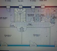 Plan etage maison haut