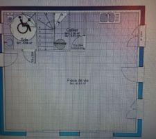 Plan maison du bas rdc