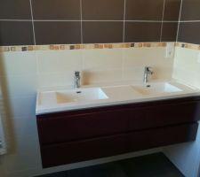 Meuble double vasque sdb étage