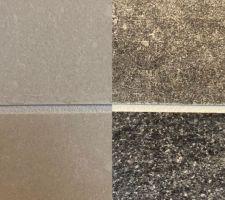 Montage entre faïence SDB côté crème et faïence SDB côté noir ... Est-ce vraiment le même joint ?