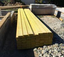 Livraison bois maison sur chantier