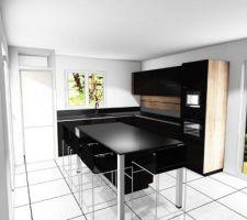 Vue 3D de notre cuisine