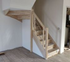 Escalier semi coffré
