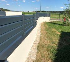 Pose des couvertines aluminium plus clôture supérieur