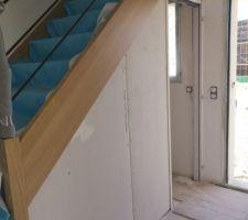Placo sous escalier