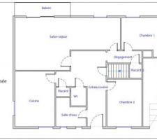 Plan maison existante avant travaux