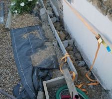 Préparation pour mise en place portail coulissant avec portillon