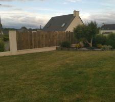 Réalisation clôture bois