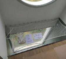 Pose du filet habitation vue de haut
