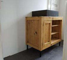 Pose meuble pour salle eau parentale