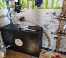 Raccord du réservoir d'eau à la Pompe à eau