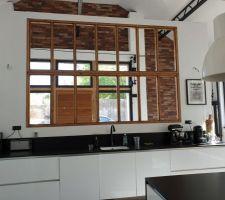 Verrière entrée/cuisine sans les vitrages