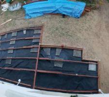 Terrasse commencée avec 2 semaines d'avance