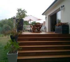 Terrasse avec nouveau traitement qui éclaircit
