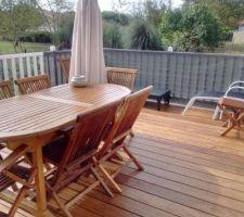 Terrasse avec nouveau traitement