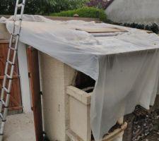 Abris jardin, toiture protection pluie bache