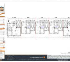 Plan des 5 maisons du lotisseur, mon projet est la VILLA 1