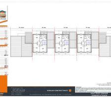 Plan des 5 maisons du lotisseur vu aérienne, mon projet est la VILLA 1