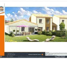 Plan détaillé de la villa 1