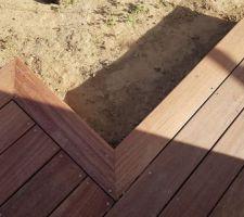 Détail de finition de la terrasse