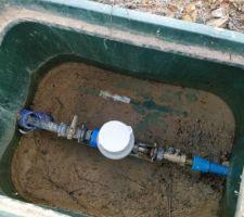 Le compteur d'eau, fraîchement posé !
