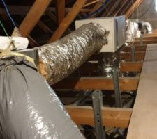 Raccordement des gaine de ventilation a mon groupe VMI