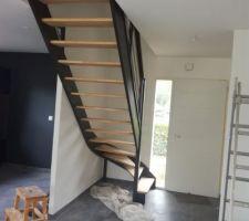 Vitrification de l'escalier