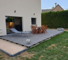 Carrelage sur plots