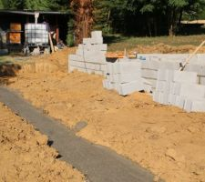 Fondation pour future terrasse
