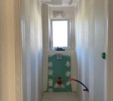 Placo intérieur WC
