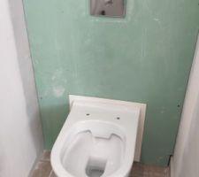 Pose des 2 WC suspendus