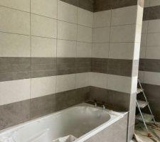 Carrelage blanc salle de bains