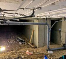 Évacuations dans le vide sanitaire