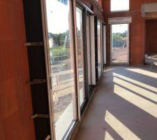 Pose des baies vitrées 3 vanteaux Kline