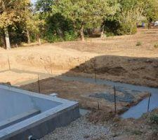 Les fondations pour le pool house sont faites