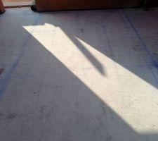 6e jour : traçage escalier au sol