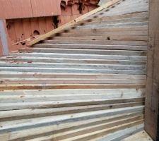 8e jour : détail du coffrage de l'escalier