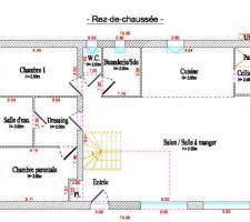 Voici ci joint les plan de notre maison que nous avons dessinés nous même