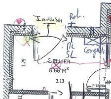 Voilà le joli plan du cellier réalisé par le CDT avec l'endroit réservé ppour le LL, SL et Congel
