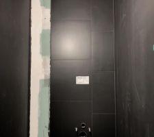 Carrelage des WC terminé