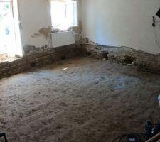 Avril/Mai 2020: Je retire 15tonnes de terre compactée à la pelle et à la brouette. 12 jours de travaux.  Photos tirées de l'épisode 17 de - La rénovation de Koggy - https://bit.ly/KoggyEP17