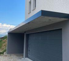 Couvertine en aluminium  Casquette garage