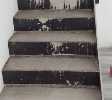 Coulage béton fibré des escaliers